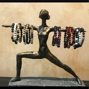 Gemstone and Lava Rock bracelets